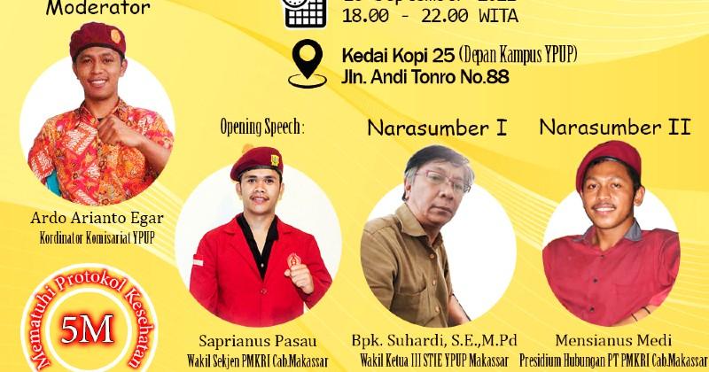 PMKRI Makassar Komisariat YPUP Soroti Masalah Pendidikan dalam Dekapan Virtual