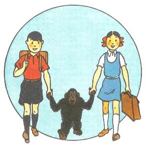 52b0b14add38 Em 1936, a revista católica  Coeurs Vaillants  pediu ao  pai  de Tintin uma  série para-as crianças e as famílias da classe média belga. E assim nasceu   Jo, ...