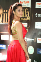 Anasuya in Red Single Shoulder Sleeveless Gown at IIFA Utsavam Awards 2017  Day 2  Exclusive 13.JPG
