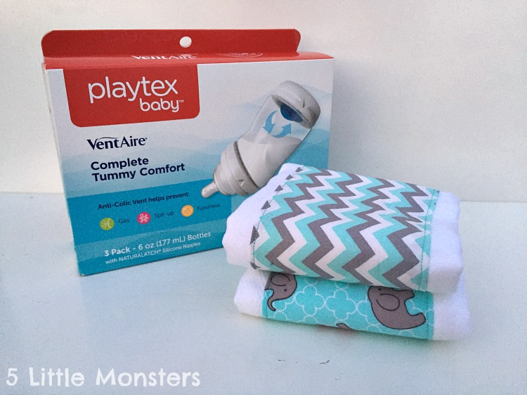 Easy DIY burp cloths from cloth diapers