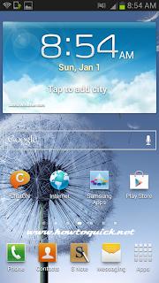 Samsung Galaxy Note 2 Settings