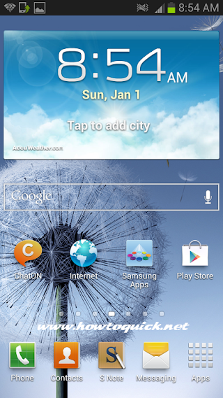 Samsung Galaxy Note 2 LTE, 3G and GPRS Mobile Internet Configuration and Settings