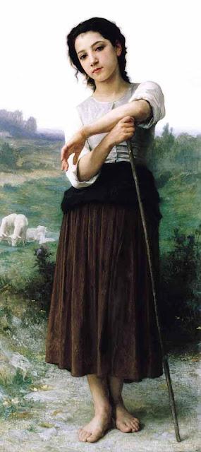 Адольф Вильям Бугро - Молодая пастушка
