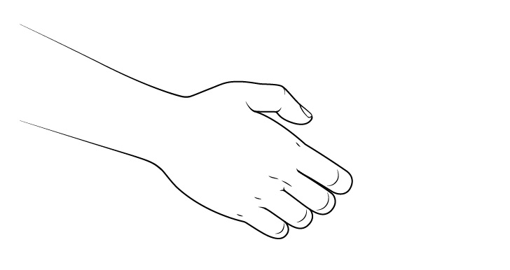 Gambar tangan depan jabat tangan