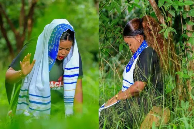 South African Female Pastor Went Into The Bush To Pray, And People Caught Her Doing This (Photos)