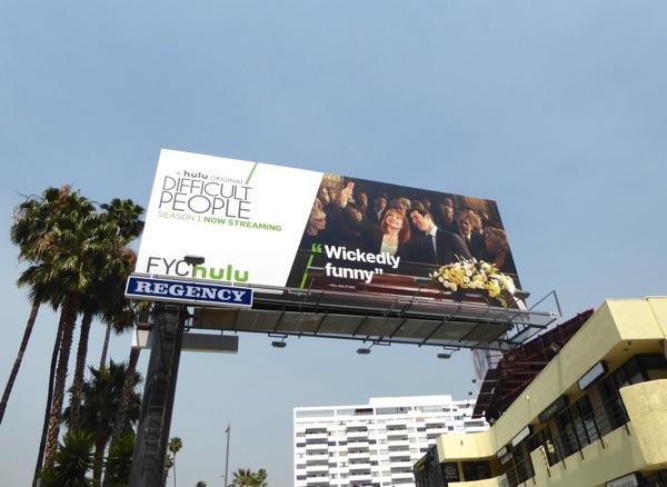 Difficult People FYC Hulu 2016 Emmy billboard