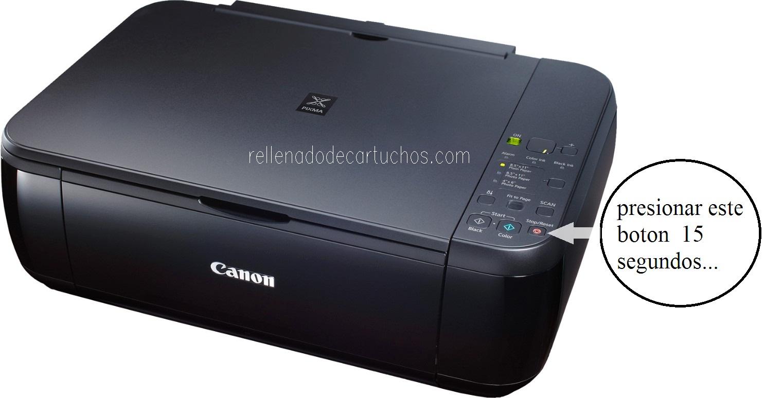 Como resetear impresora Canon PIXMA MP280   es.Rellenado