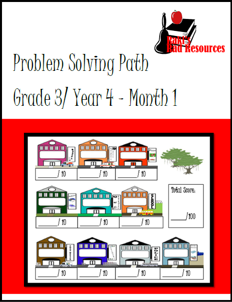 Free problem solving math journal for 3rd grade from Raki's Rad Resources.