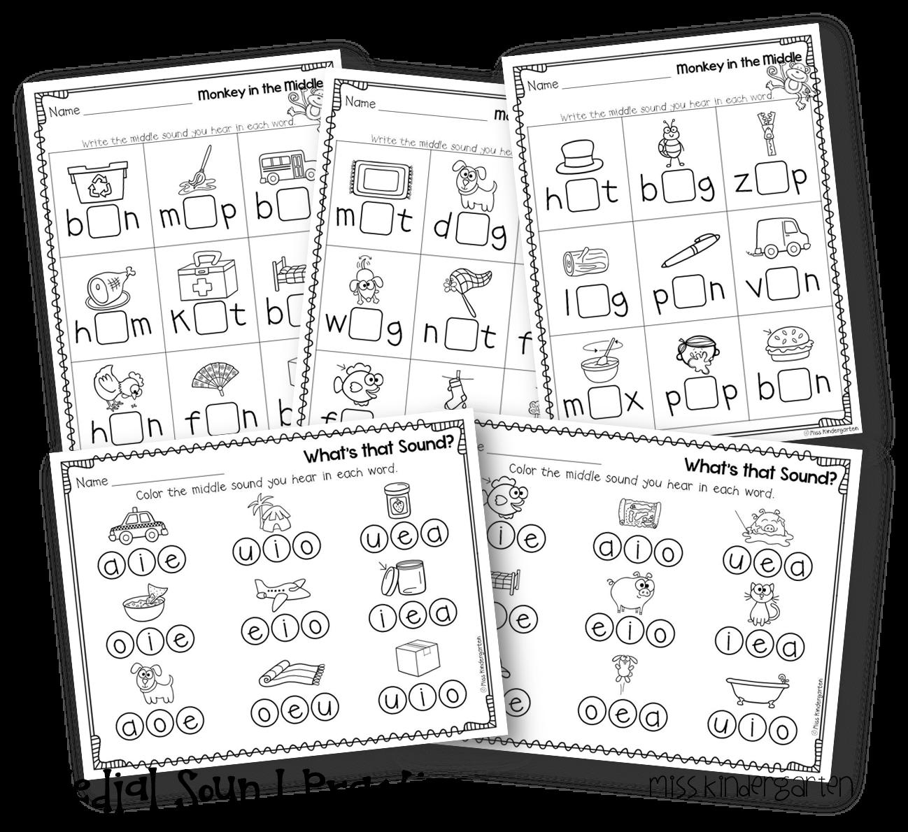 Miss Kindergarten Super Cvc Practice