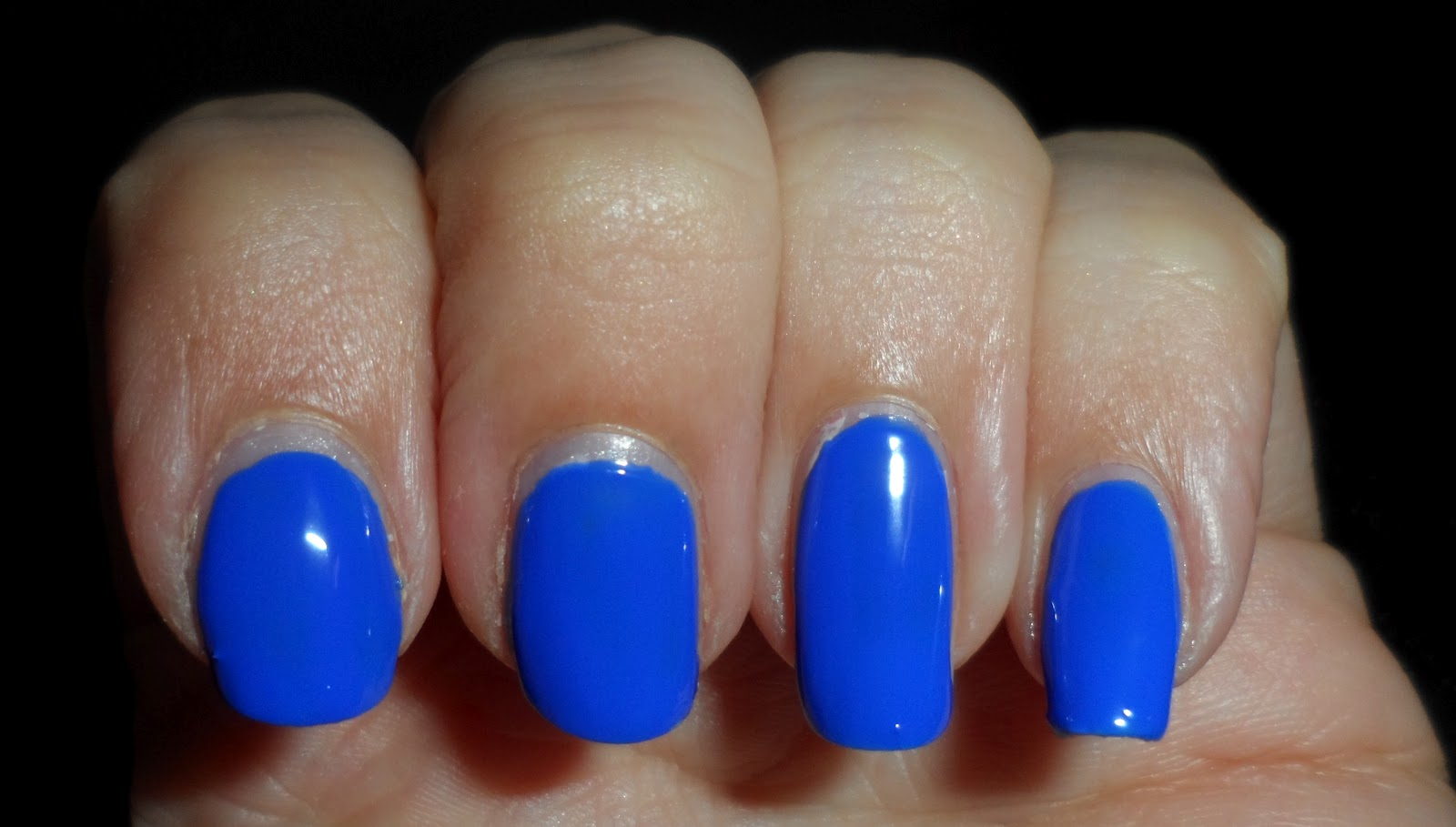 My Favorite Man Nails (oh and some neon green polish ... |Neon Blue Nails