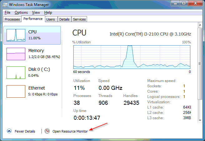 Windows 8 Style Task Manager di Komputer Windows 7