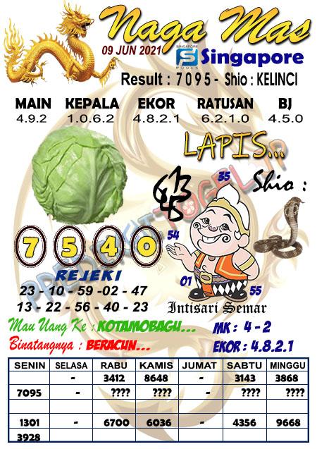 Syair Naga Mas SGP Rabu 09 Juni 2021
