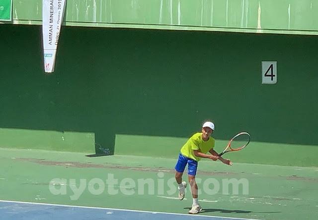 Menang Atas Abid, Luis Darsono ke Final Kejurnas Tenis Amman Mineral Detec Open 2019