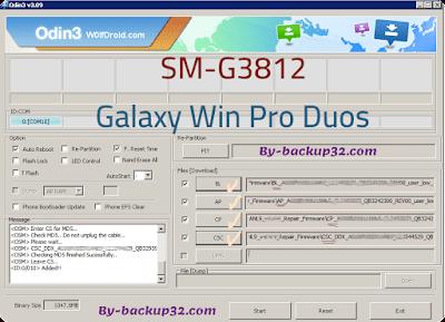 سوفت وير هاتف Galaxy Win Pro Duos موديل SM-G3812 روم الاصلاح 4 ملفات تحميل مباشر