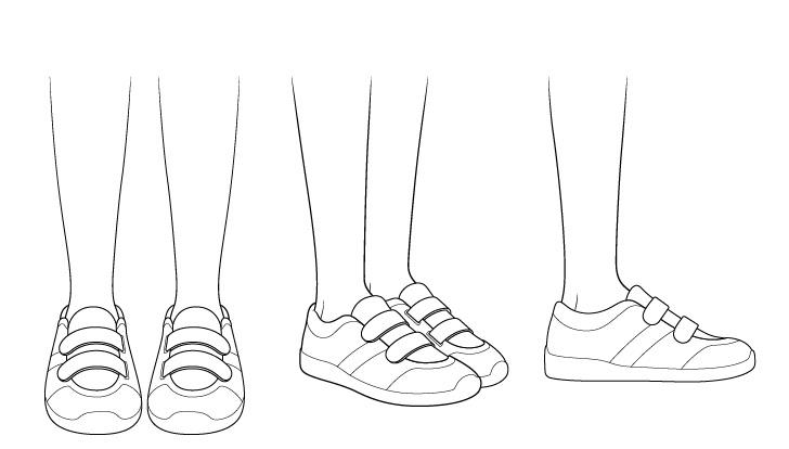 Gambar sepatu lari anime