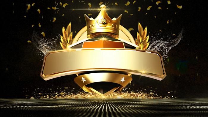 Black Golden Crown Award Ceremony Editable PSD