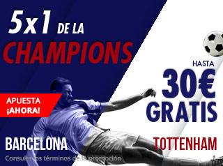 suertia promocion Champions Barcelona vs Tottenham 11 diciembre