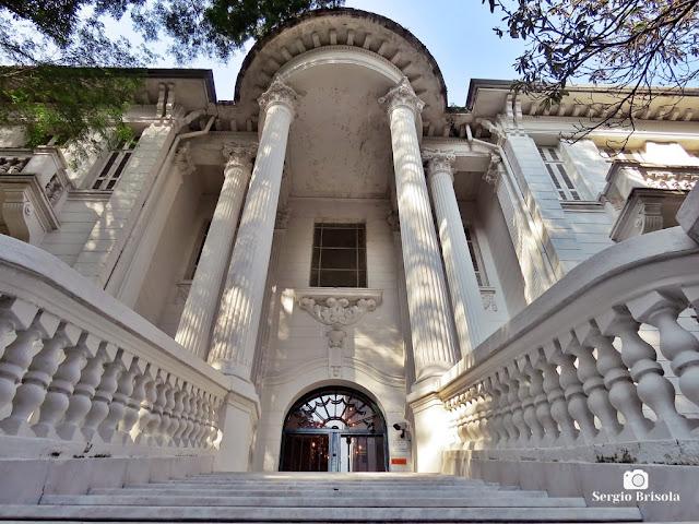 Vista da entrada do Palacete Chucri Assad - Ipiranga - São Paulo