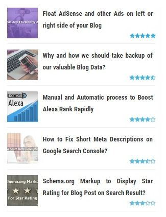 Popular Post Thumbnail plus Bintang