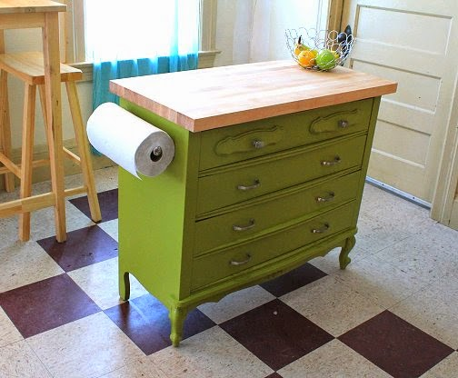Dishfunctional Designs: Upcycled: Awesome Kitchen Islands Made From on dresser desk, dresser chair, dresser wine rack, dresser bar, dresser hutch, dresser into island, dresser storage, dresser entertainment center, dresser in kitchen, closet island, dresser bedroom, double dresser island, dresser projects, dresser cabinets, dresser with many drawers,