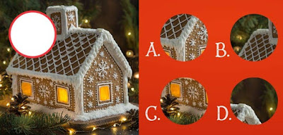 Figure: Which piece would complete this delicious gingerbread house?