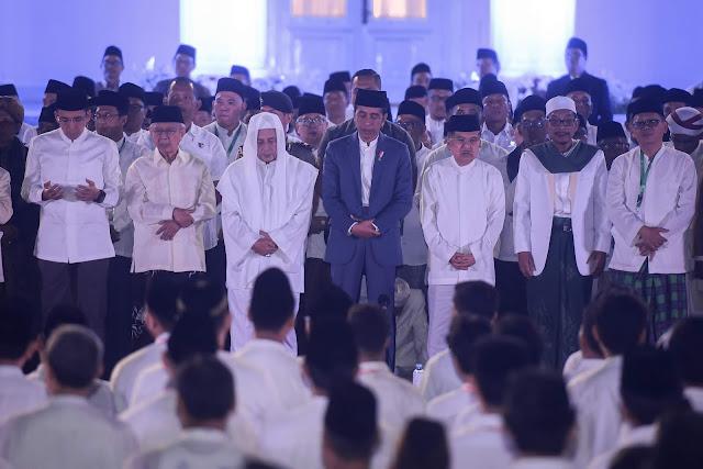 Hadiri Doa Kebangsaan 74 Tahun Indonesia, Presiden Jokowi Ajak Masyarakat Bersyukur