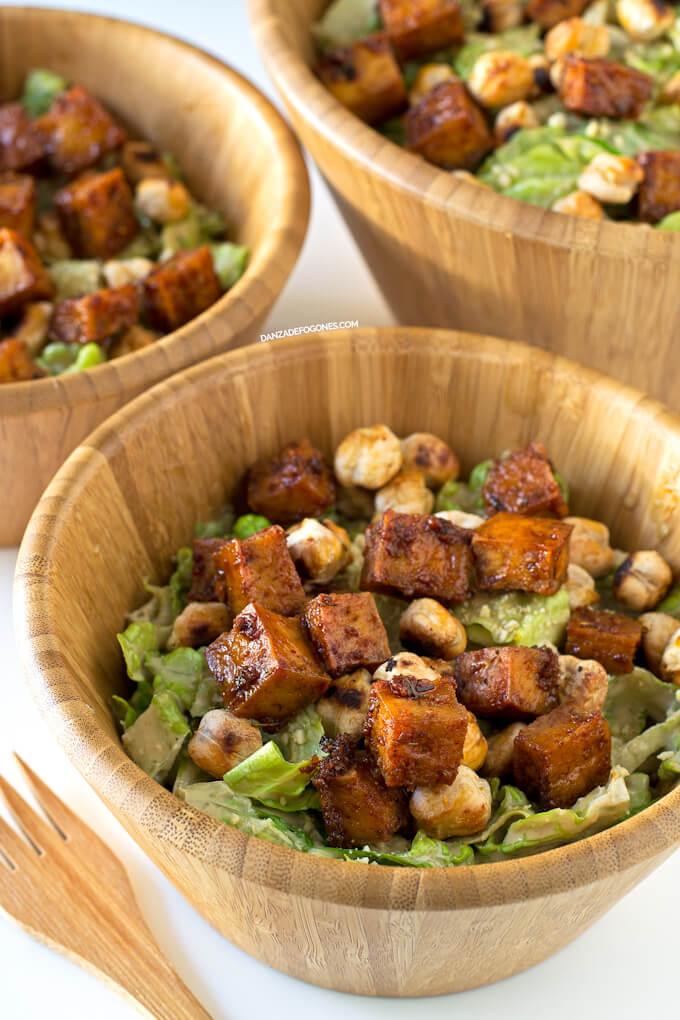 The Best Rich Vegan Caesar Salad Recipe (Delicious)