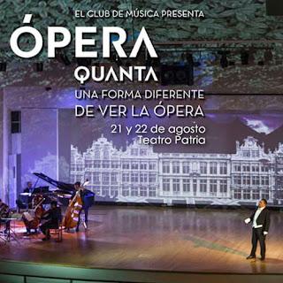 OPERA QUANTA en Teatro Patria Bogotá  2019