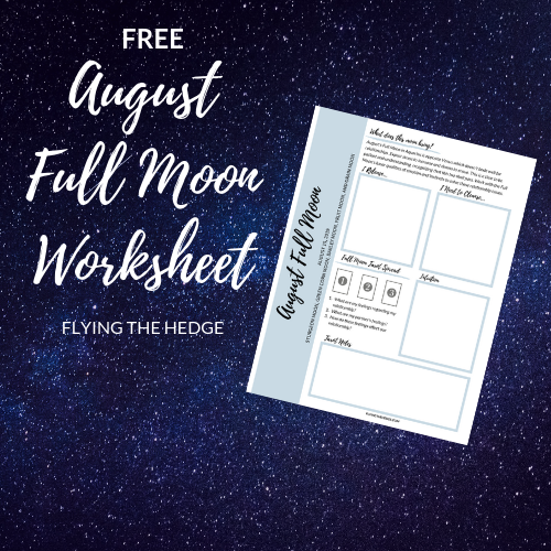 August Full Moon Worksheet