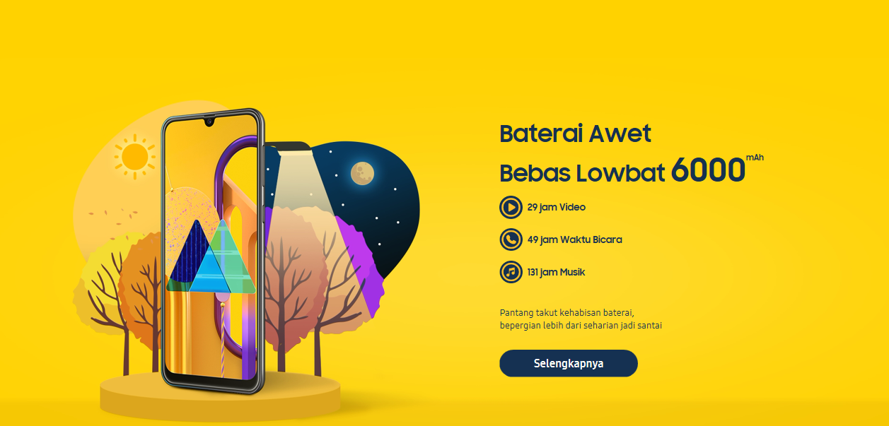Baterai Samsung M30s Jumbo 6000 mAh, Samsung Galaxy M30s Anti Lowbat