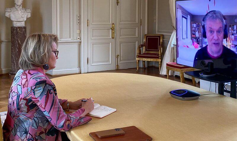 Diane von Furstenberg pink print jacket gabrielle silk cuffs. Dries van noten tailored brazer