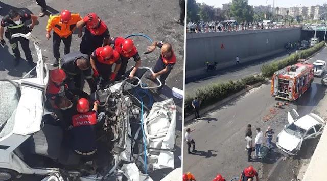 Urfa'da feci kaza: 2 ölü, 3 yaralı