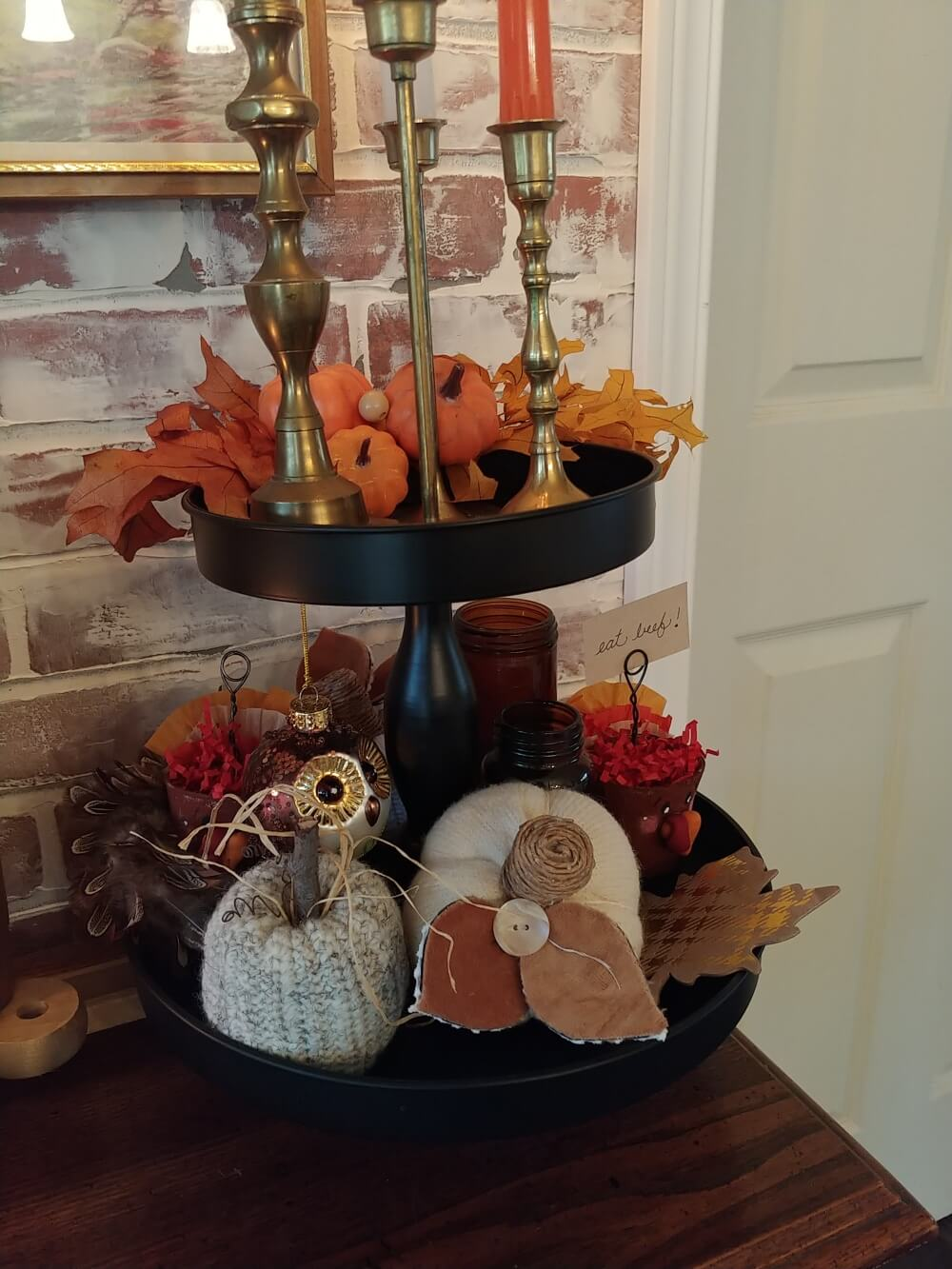 Thanksgiving Buffet Decor!