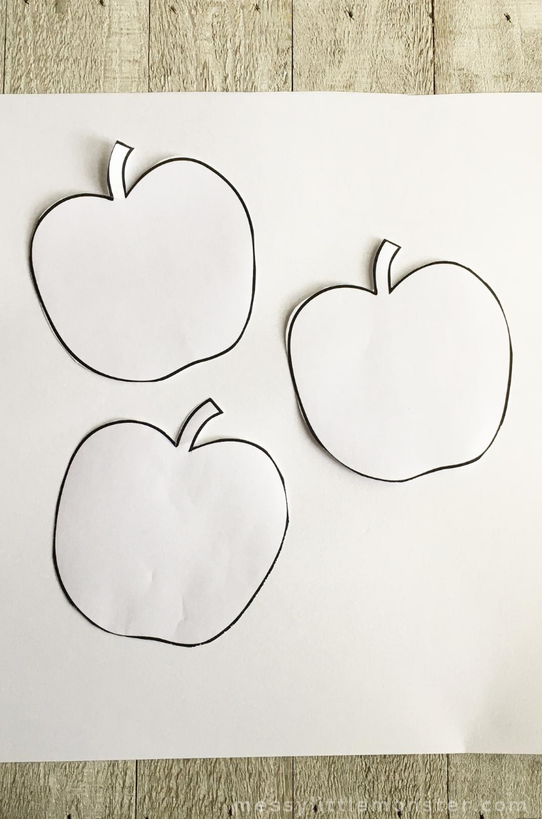 printable apple template