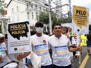 Policiais penais e civis reivindicam abertura de diálogo com o Governo