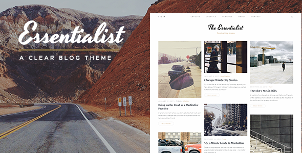 Essentialist v1.2.2 - Một chủ đề Blog WordPress tự sự