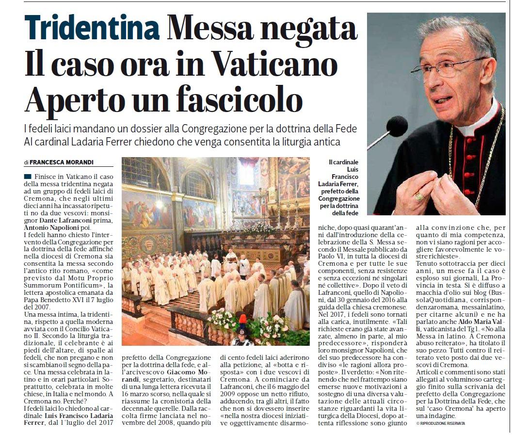7d3aa72c5015 MiL - Messainlatino.it  Cremona  S. Messa negata. Aperto un ...