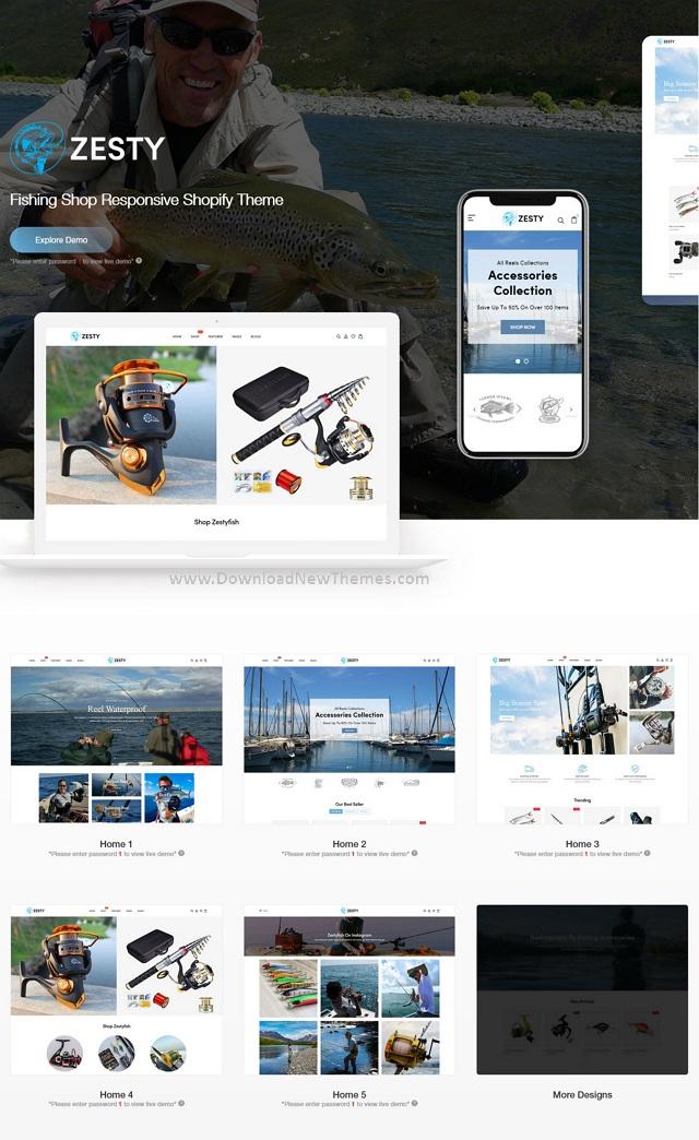 Fishing Shop Responsive Shopify Theme