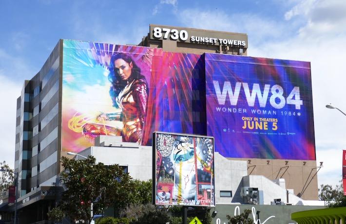Giant WW84 movie billboard