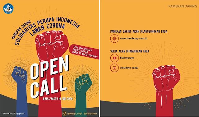 Pameran Daring Solidaritas Perupa Indonesia Lawan Corona pada tahun 2020