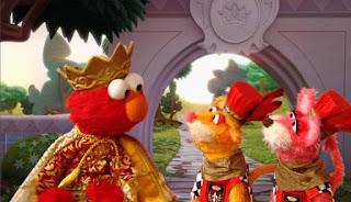 Elmo imagines himself as a prince. Prince Elmo the Musical. Sesame Street Episode 4421, The Pogo Games, Season 44.
