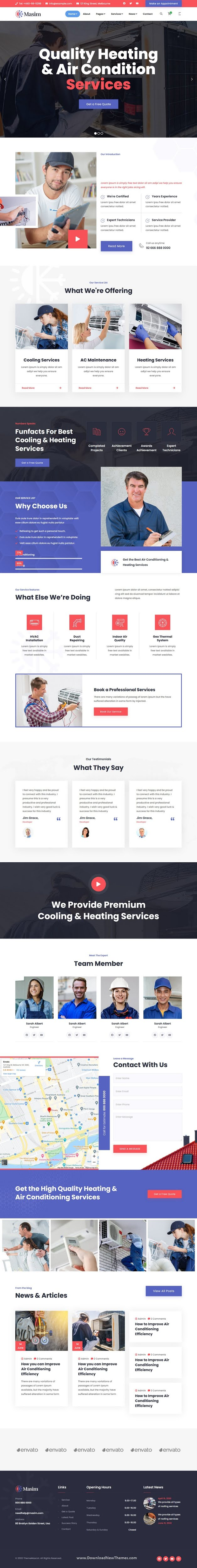 Air Conditioning & Repair HTML Template
