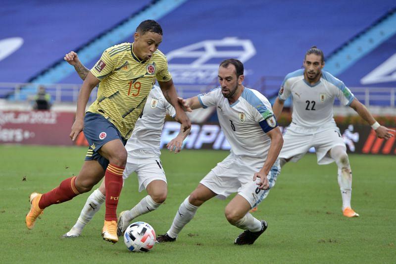 موعد مباراة أوروجواي وكولومبيا اليوم