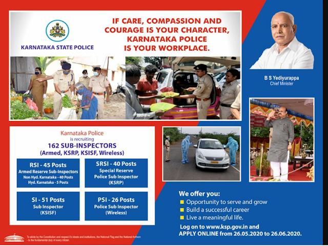 KSP SI Job Vacancy 2020