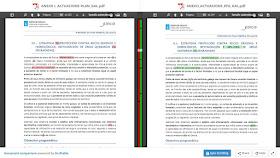 Comparacion Version 0 y version 1 de Actuacions revPFG