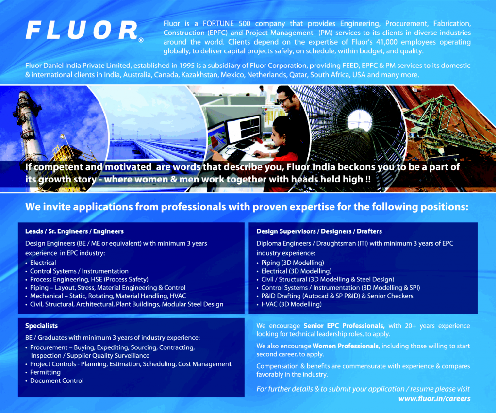 Gulf Jobs For Malayalees Australia Piping Layout Engineer In Uae Fluor Large Vacancieselectrical