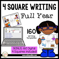 PRINT and DIGITAL 4 Square Templates for the Year