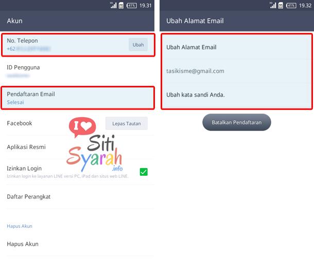 pindah akun line dari iphone ke android