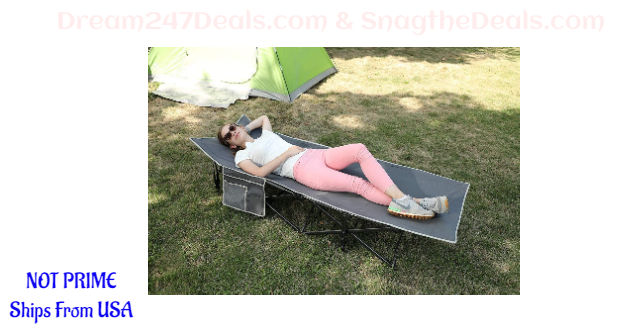 35%OFF  ALPHA CAMP Oversized Camping Cot Supports 600 lbs Sleeping Bed Folding Steel Frame Portable with Carry Bag