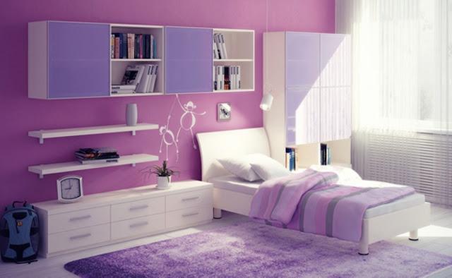 Nội thất màu tím lilac